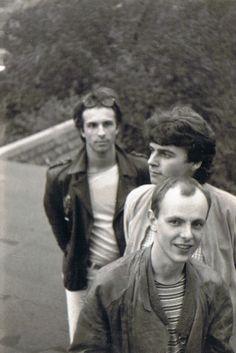 Die Time Twisters - 1985 Ralf Wendler, Jürgen Jahn, Andreas Henning Foto © U. Henning 1985