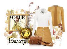 """Autumn Beauty"" by montse-gallardo ❤ liked on Polyvore featuring La Fée Maraboutée, Parisian, Disney, Tory Burch, disney and disneycharacter"