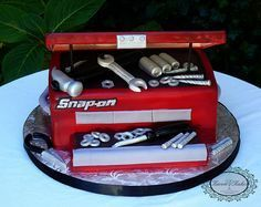 "Grooms cake - ""Snap On Tools"" Toolbox"