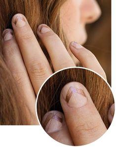 Copper chevron on bare nails...super edgy!