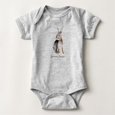 Cute Rabbit Animal   Baby Boy   Bodysuit - animal gift ideas animals and pets diy customize