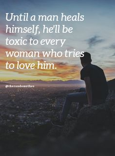 Until a man heals himself, he'll be toxic to every woman who tries to love him. #Healingquotes #Healingforlovequotes #Lovequotes #Inspirationalhealingquotes #Quotesaboutrecovery #Recoveryfrompainquotes #Overcomingpainquotes #Quotesforhim #Quotesforboyfriend #Specialquotes #Relatablequotes #Jayshettyquotes #Lifequotes #Emotionalquotes #Deepquotes #Blessingsquotes #Beautifulquotes #Dailyquotes #Everydayquotes #Instaquotes #Instastories #Quoteoftheday #Quotes #Quotesandsayings #therandomvibez Short Love Quotes For Him, Small Love Quotes, Heart Touching Love Quotes, Love Picture Quotes, Famous Love Quotes, Love Quotes With Images, Sweet Messages For Boyfriend, Quotes For Your Boyfriend, Relationship Quotes For Him