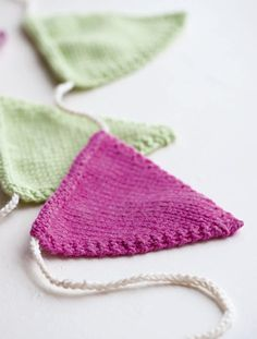 Knitted bunting pattern - goodtoknow
