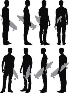 Vectores libres de derechos: Multiple images of a man with…