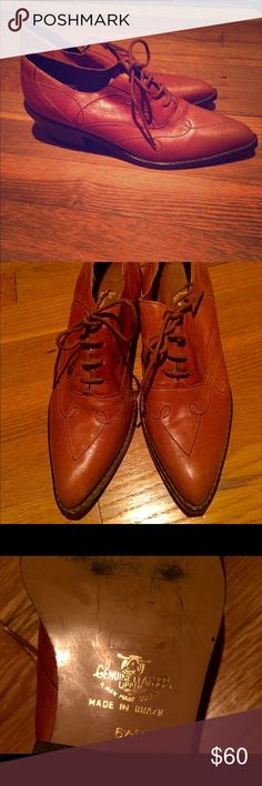 Vintage made in Brazil caramel colored oxfords Maybe the cutest vintage oxfords ever- straight from Brazil! In excellent shape with regular wear to the sole (and some writing from the vintage shop I bought them at). I conditioned and waterproofed the leather with Frye leather waterproofing. Reasonable offers considered. Vintage Shoes Flats & Loafers