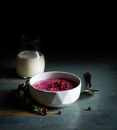 Forget semolina, whipped lingonberry rye porridge is slowly cooked with fine rye flour for rich flavors. Semolina Recipe, Fall Recipes, Snack Recipes, Fancy Dishes, Porridge Recipes, Vintage Cooking, Evening Snacks, Perfect Breakfast, Breakfast Bowls