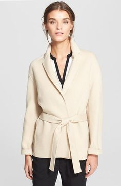 Free shipping and returns on Vince Belted Easy Jacket at Nordstrom.com. A belted sash cinches the waist of an effortless wool-blend jacket styled with a notched lapel, raised hems and cuffable sleeves.