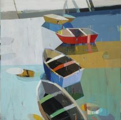 Boats in Shallow Water #5 Siddharth Parasnis art presented by sgfa | sue greenwood fine art www.suegreenwoodfineart.com