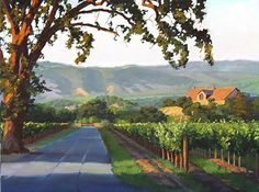 Road to the Winery by susan Hoehn Oil ~ 18 x 24