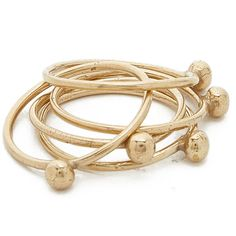 Jacqueline Rose Orb Stack Rings ($230) ❤ liked on Polyvore featuring jewelry, rings, bronze, bronze jewelry, stackable rings, stacking rings jewelry and bronze ring
