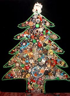 vintage jewelry christmas trees - Google Search