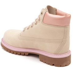 """Tween Timberland 6"""" Classic Boot ❤ liked on Polyvore featuring shoes, boots, lightweight leather boots, lightweight waterproof boots, timberland boots, arch support shoes and lightweight boots"""