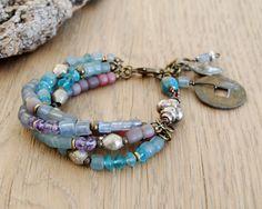 bohemian bracelet ethnic bracelet gypsy jewelry boho por OmSaha, $63.00