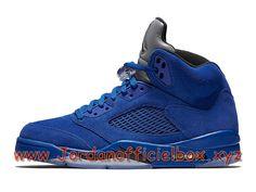 Chaussures Air Jordan 5 Retro Blue Suede 136021_401 Air Jordan Pas cher Pour HOmme-Jordan Officiel Site,Boutique Air Jordan 2017!Accept Paypal!
