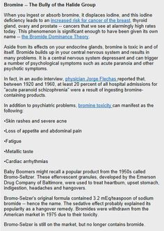 Bromine in bread toxic to you THYRIOD..