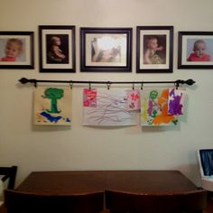 Kids artwork display - More sturdy than a cable.