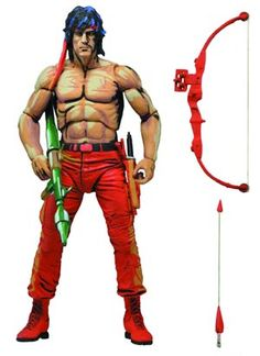 #Rambo First Blood Part II Video Game Rambo 7-Inch Action Figure - Midtown Comics
