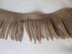 "5 yards tan brown faux leather braided braid Lip Cord Piping Trim 1//4/"" 3//8/"""