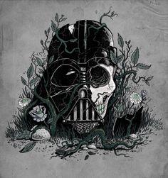 """Darth Vader Helmet art: """"Requiem for a Skywalker"""""""