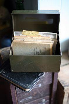 Old index card holder