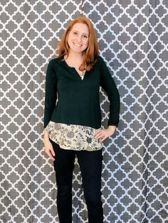 Papermoon Barkley Woven Detail Knit Top - Stitch Fix March 2017 Stitch Fix Stylist, Personal Style, Stylists, Bell Sleeve Top, March, Knitting, Detail, My Style, Spring
