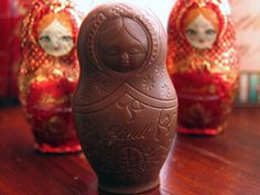 Lindt russian doll chocolate - my daughter in law gave me a tin of these for Christmas one year.  Yum.