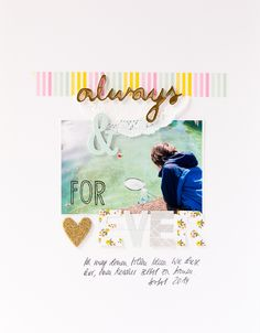 Always and forever ... Scrapbooking-Layout mit dem Junikit 2015 von Freckledfawn I Layout with June kit from freckledfawn