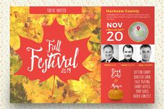Fall Festival Flyer Template by SeraphimChris on Creative Market