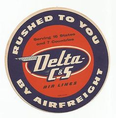 DELTA AIRLINES luggage label
