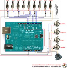 straight forward arduino input wiring diagram by Beavis Audio Research