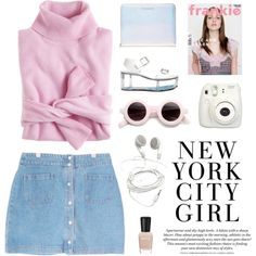 """""""top soft girly with denim set"""" by flam16 on Polyvore"""