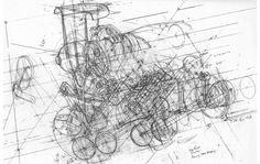 Ferrari Engine Drawing
