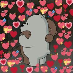 25 New Ideas memes heart bear We Bare Bears Wallpapers, Cute Wallpapers, Cartoon Memes, Funny Memes, Memes Lindos, Heart Meme, Heart Emoji, Cute Love Memes, We Bear