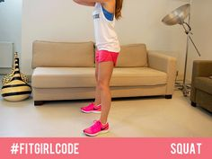 Get back to basics and learn how to do a proper squat. #Fitgirlcode #squat #workout