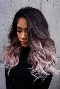 What is the Difference Between Balayage and Ombre? Ash Brown To Pastel Ombre Asian Ombre Hair, Ash Blonde Ombre Hair, Hair Color Asian, Balayage Blond, Ombre Hair Color, Hair Colour, Brown Blonde, Purple Ombre, Ombre Hair For Asians