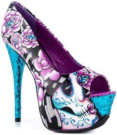 Sugar skull heels