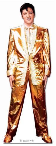 Elvis Gold Lamé Suit Cardboard Cutouts