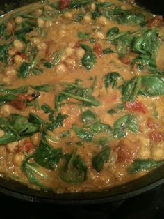 Coconut Curry with Chickpeas. Recipe adapted from the book The Fast Metabolism Diet by Haylie Pomroy