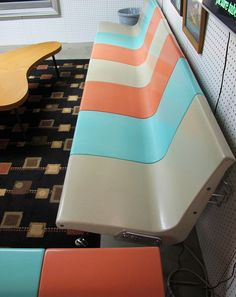 GOOGIE Time Bowling Alley Chairs. You can see these and more neat Mid-Century…