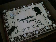 Graduation Silhouette Sheet Cake