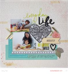 Everyday life, aren't you lovely by amytangerine at Studio Calico 12x12 Scrapbook, Scrapbook Sketches, Scrapbook Page Layouts, Scrapbook Paper Crafts, Amy Tan, Studio Calico, Card Making, Park Avenue, Scrapbooks