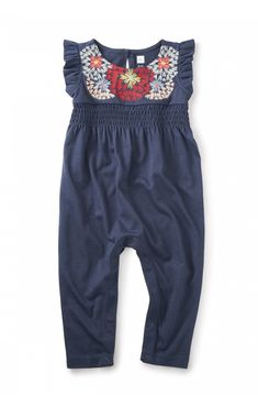 Begonia Embroidered Romper | Tea Collection