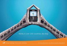 Italie :   Publicité mondiale de téléphones