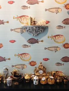 Spotted in London, Fornasetti wallpaper for Cole & Son