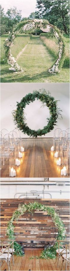Circular wedding arch ideas #wedding #weddingdecor #weddingarches #weddingideas