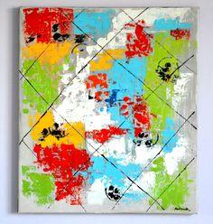Tableau moderne abstrait color design contemporain tableau contemporain co - Tableau colore pas cher ...