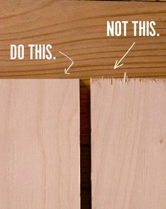 How to Prevent Tearout and Splintering When Cutting Plywood, Once and For All - How to.Furniture - How to Prevent Tearout and Splintering When Cutting Plywood, Once and For All Woodworking For Kids, Popular Woodworking, Woodworking Projects Diy, Woodworking Furniture, Woodworking Tools, Diy Wood Projects For Men, Plywood Projects, Wooden Projects, Woodworking Workshop