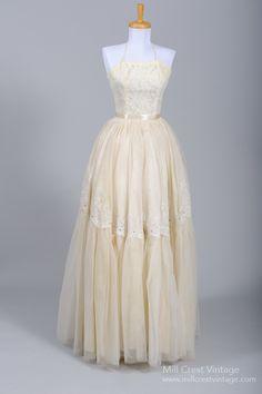 1950 Emma Domb Vintage Wedding Gown : Mill Crest Vintage