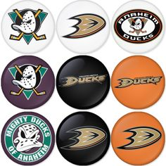 "Anaheim Ducks NHL 1.75"" Badges Pinbacks, Mirror, Magnet, Bottle Opener Keychain http://www.amazon.com/gp/product/B00CKGIQFS"