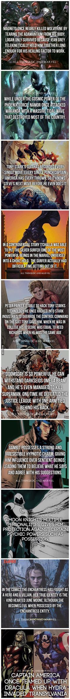 Superhero Facts: Part 4 - 9GAG                                                                                                                                                                                 Más
